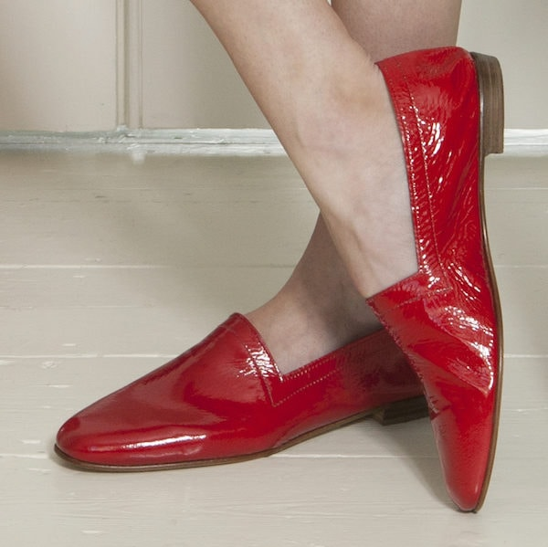 Ops&Ops No10 Red Patent leather flats