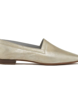 White Gold No10 flats, side view
