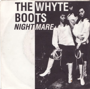 The Whyte Boots wearing white go-go boots